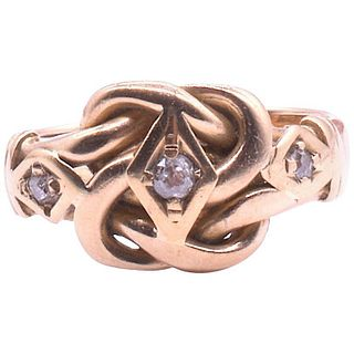 HM CHESTER 1909 GOLD KNOT RING WITH DIAMOND