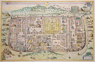 Christian Van Adrichom (1533-1585) -  Jerusalem, et Suburbia eius…[Jerusalem at the time of Christ]