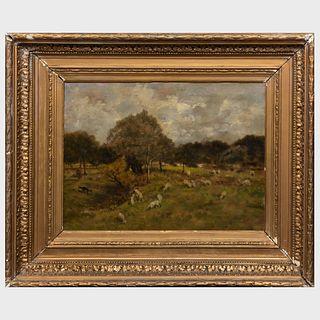 European School: Landscape with Sheep