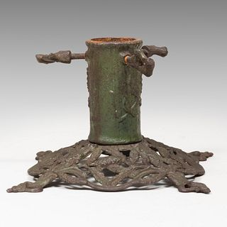 E.E. von den Steinen Jugendstil Painted Iron Christmas Tree Stand, Model No. 198, Late 19th/Early 20th Century
