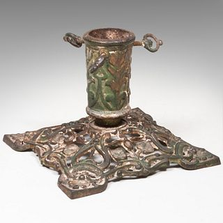 German Painted Iron Christmas Tree Stand, Late 19th/Early 20th Century