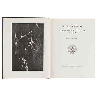 Ruppert, Karl. The Caracol at Chichen Itza, Yucatan, Mexico. Washington, 1935. 10 láminas y 1 mapa plegados.