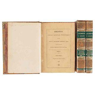 Beristain de Souza, José Mariano. Biblioteca Hispanoamericana Septentrional. Amecameca, 1883. Segunda Edición. Piezas: 3.