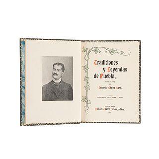 Gómez Haro, Eduardo. Tradiciones y Leyendas de Puebla. Puebla y Orizaba: Manuel Castro Limón, Editor, 1904. Frontispicio y 2 láminas.