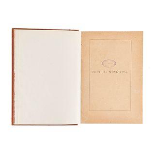 Poetisas Mexicanas. Siglos XVI, XVII, XVIII, XIX. Antología Formada por Encargo de la Junta de Señoras... México, 1893. 15 retratos.