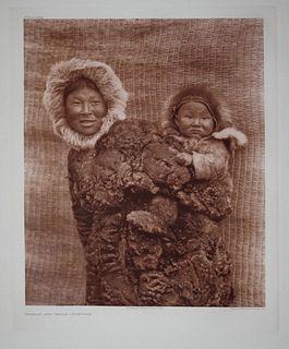 Edward S. Curtis - Nunivak Woman Child Pl 694