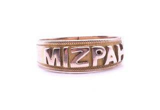 Antique 9 Karat Mizpah Ring HM, Birmingham, 1905