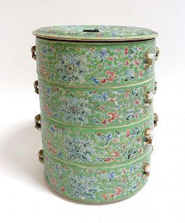 Qing Dynasty Porcelain Stacking Jars