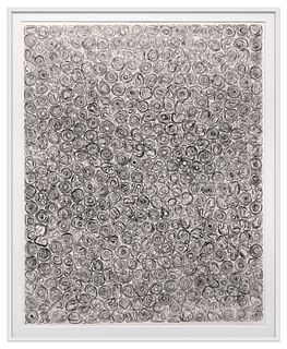 TARA DONOVAN - Untitled (from Rubber Band Matrix) -