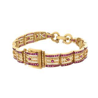 Ruby, Diamond and 18K Bracelet