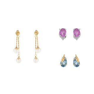 Three Pair of Earrings