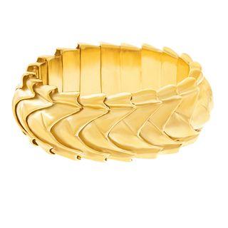 Seaman Schepps Fabulous Gold Bracelet 14k c1950s American