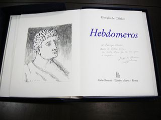 de Chirico, Giorgio - Hebdomeros [and other editions with a dedication to Clerici]