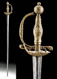 Fine 18th C. French Steel Cavalry Trooper's Sword