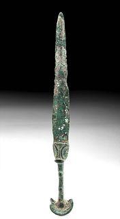 Luristan Bronze Dagger w/ Double Ear Pommel