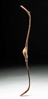 19th C. Persian Handcarved Wood Recurve Bow