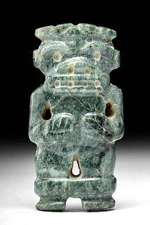 Costa Rican Greenstone Figural Pendant