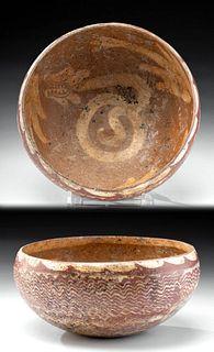 Jalisco Bi-Chrome Bowl w/ Incised Serpents