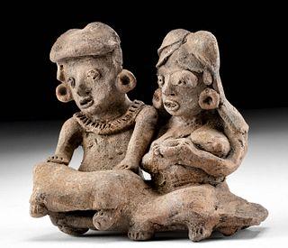 Michoacan Terracotta Couple w/ Expressive Faces