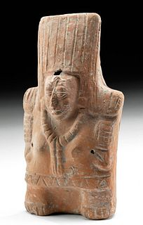 Maya Jaina Pottery Female Rattle Figure