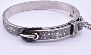 Niello Buckle Bracelet, circa 1890