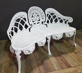 English Cast Iron Garden Seat
