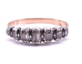 Antique Seven-Stone Diamond Half Hoop Ring, circa 1790