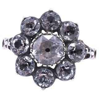 Diamond Paste Cluster Ring, Circa 1830