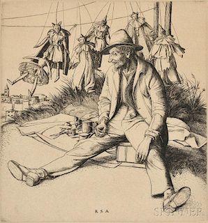 Robert Sargent Austin (British, 1895-1973)      The Puppet Master
