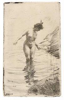 Anders Zorn (Swedish, 1860-1920)      Cercles d'eau II