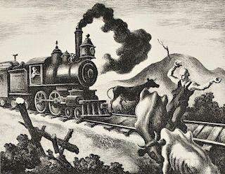 Thomas Hart Benton (American, 1889-1975)      Slow Train through Arkansas