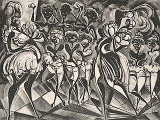 Adolf Arthur Dehn (American, 1895-1968)      Black and White Ballet