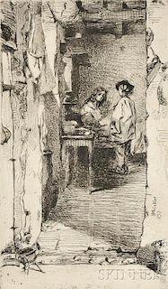 James Abbott McNeill Whistler (American, 1834-1903)      The Rag Gatherers'