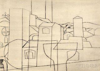 Ben Nicholson (British, 1894-1982)      San Gimignano