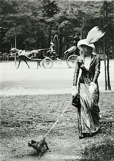 Jacques-Henri Lartigue (French, 1894-1986)      Mary Lancret Along the Bois de Boulogne