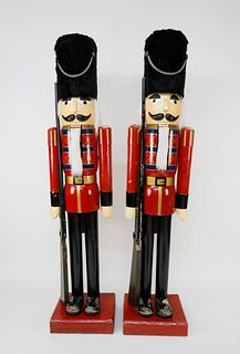 Pair of Monumental Nutcracker Figures, 6 Feet Tall