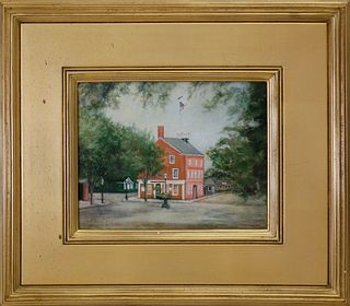 "Yasemin Tomakan Oil on Canvas ""Old Customs House"""