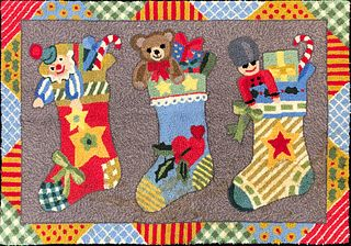 Festive Claire Murray Hooked Rug