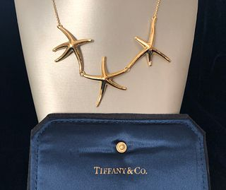 Tiffany & Co. Elsa Peretti 18k Gold Tri-Starfish Necklace