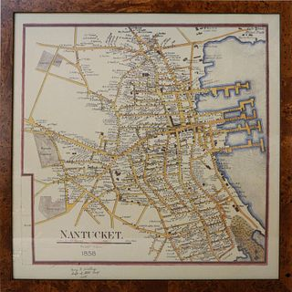 Henry Walling 1858 Reproduction Nantucket Street Map
