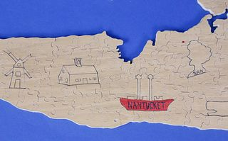 "136 Piece Wood Jigsaw Puzzle ""The Nantucket Puzzle"""