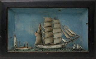 American Ship's Diorama, circa 1860