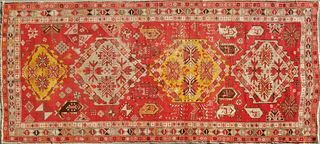 Vintage Turkish Hand Woven Carpet