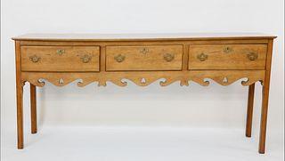 Maple Three Drawer Huntboard