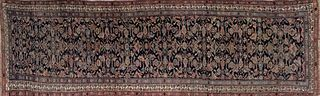 Antique Hand Woven Geometric Carpet Runner