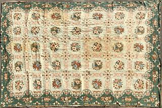 Wool Crewel Stitch Carpet