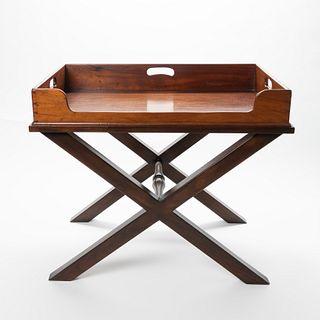 English mahogany Butler's tray table (1800's)