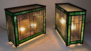 Leaded Glass Wall / Table Lanterns