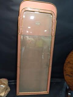 Venetian pink frame mirror