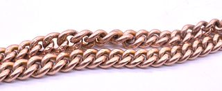 C.1890 Rose Gold Albert Necklace with matching dog clips T-Bar + Bolt Ring